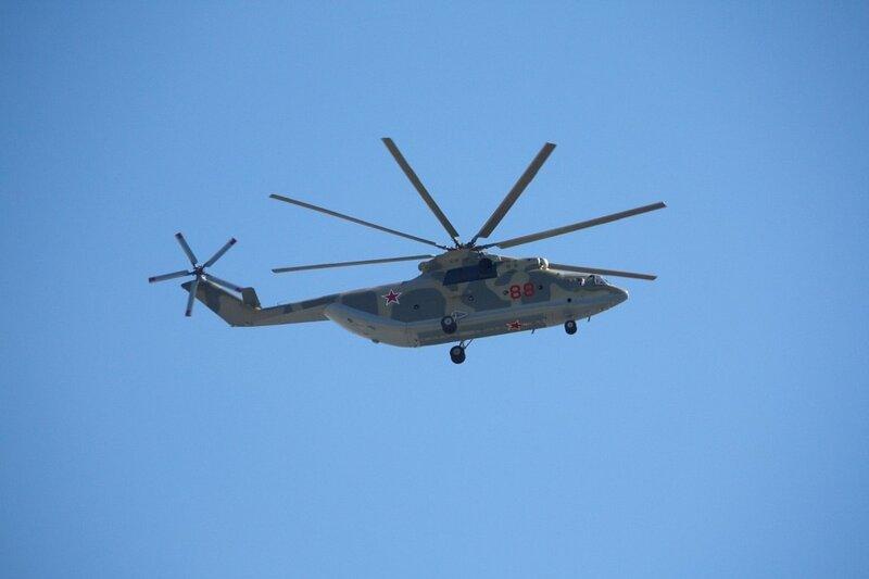Вертолет Ми-8АМТШ (бортовой номер «88 синий») 6971-й авиабазы ВВС России