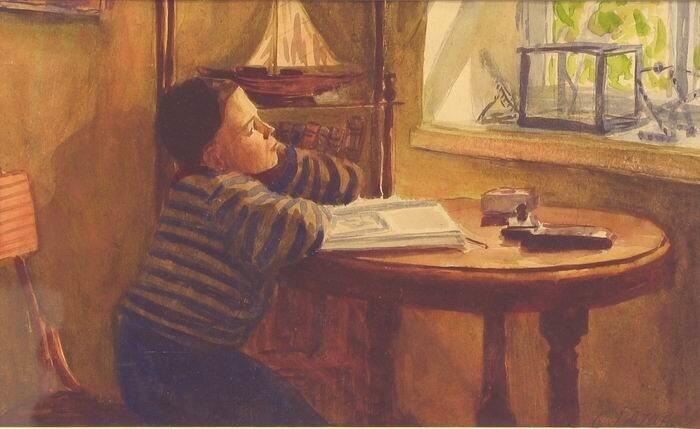 """Гатин Сергей Захарович (1923 г.р.). """"Мечтатель"""". 1940-50-е гг."""
