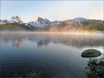Золотистый утренний туман