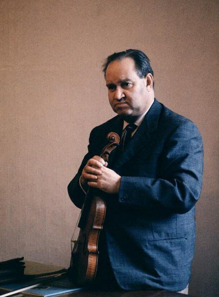 Москва. Давид Ойстрах, преподаватель по классу скрипки в консерватории имени Чайковского