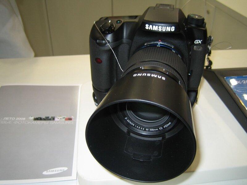 Зеркальная камера Samsung GX-20. Заявка на лидерство.