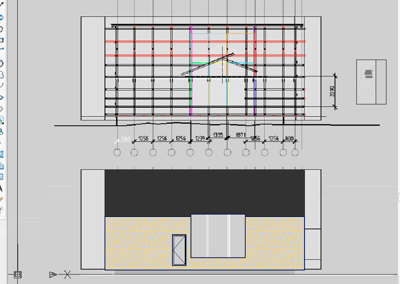 дизайн проект дома, конструкции внешнего витража.