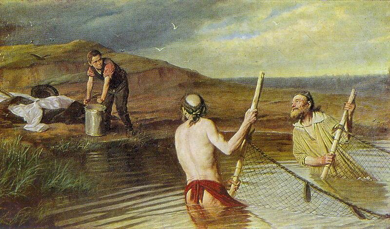 Рыбаки. (Священник, дьякон и семинарист). 1879 Х., м. 104х179.5 Н.Новгород.jpg