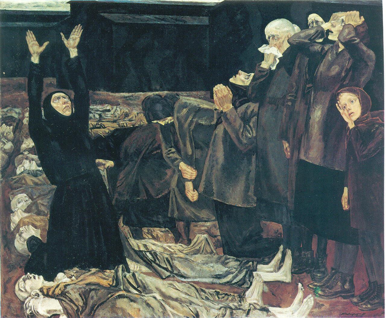 Ужасы войны в живописи Михаила Савицкого (11 работ)