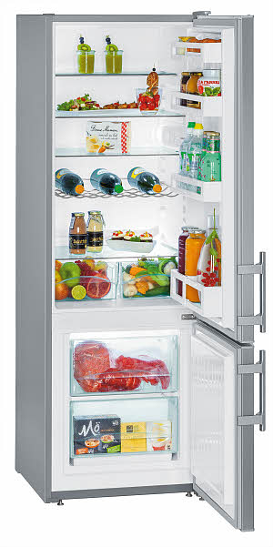 Liebherr холодильник серебристый