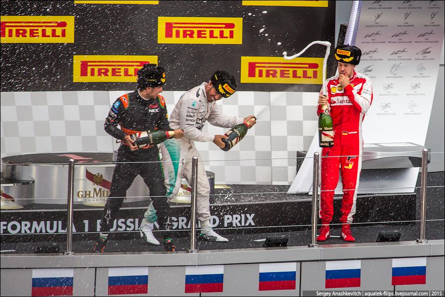 Церемония награждения Formula 1 Russian Grand Prix 2015