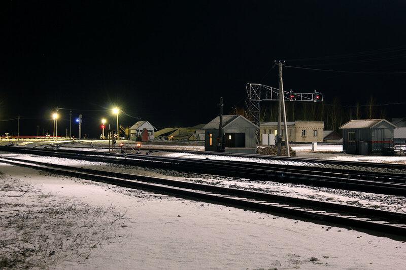 Западная горловина станции Новосокольники