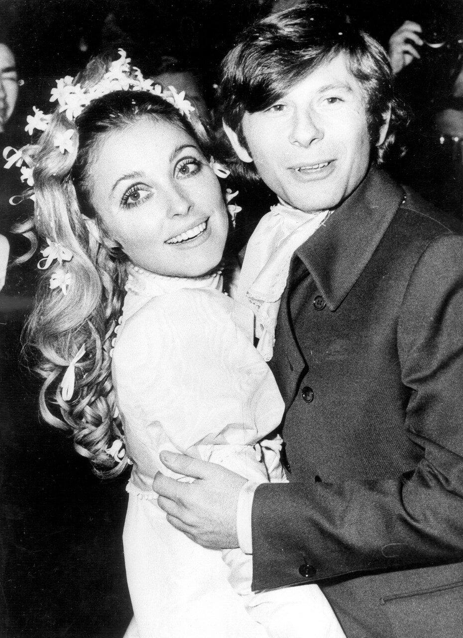 Sharon TATE und Roman POLANSKI nach ihrer Trauung, 1968