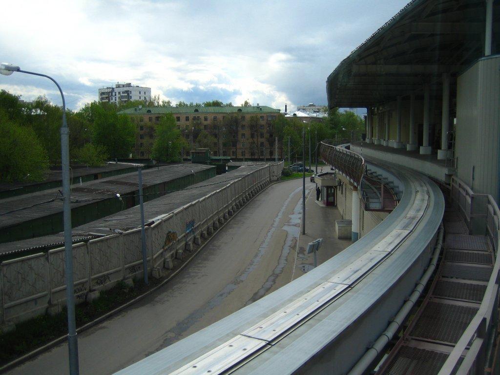 Станция «Улица Милашенкова» Московской монорельсовой транспортной системы