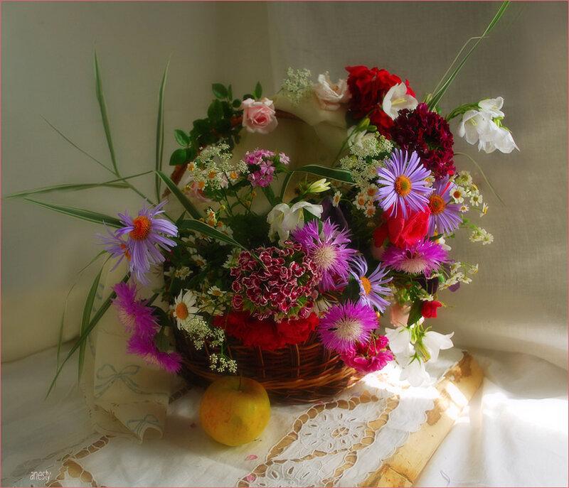 Колыбелька для младенца: новорожденному - пелена из плетеных соцветий...