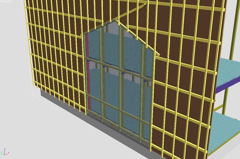 дизайн проект дома, схема монтажа обрешётки