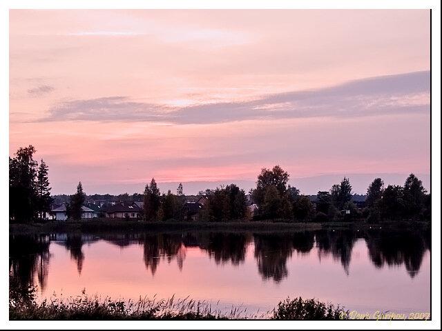 Закат на озере Озолниеку