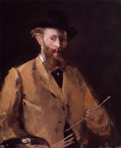 Self Portrait with Palette - 1878 - Private collection - Painting - oil on canvas.jpg