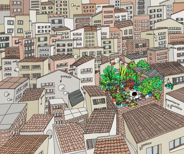 Графика, иллюстрации, городские зарисо5a8вки от Лоры Барнард / Laura Barnard