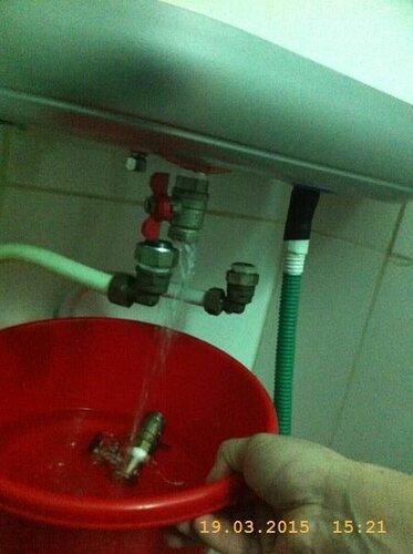 Сливаем излишки воды из бойлера