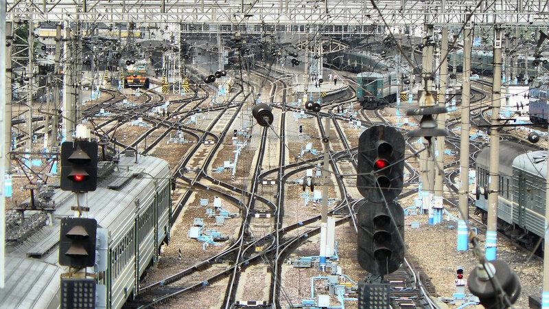 Разъездные пути на Киевском вокзале