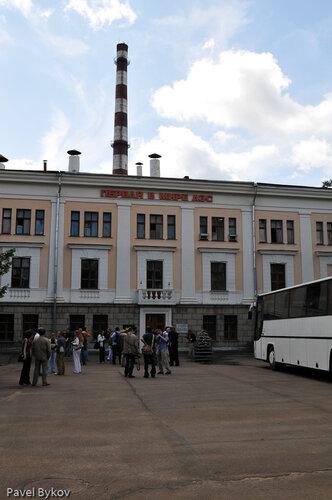 Главное здание. Реактор в нем.