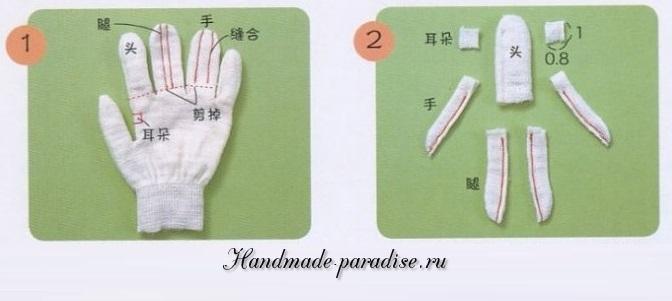 Куклы из перчатки 1