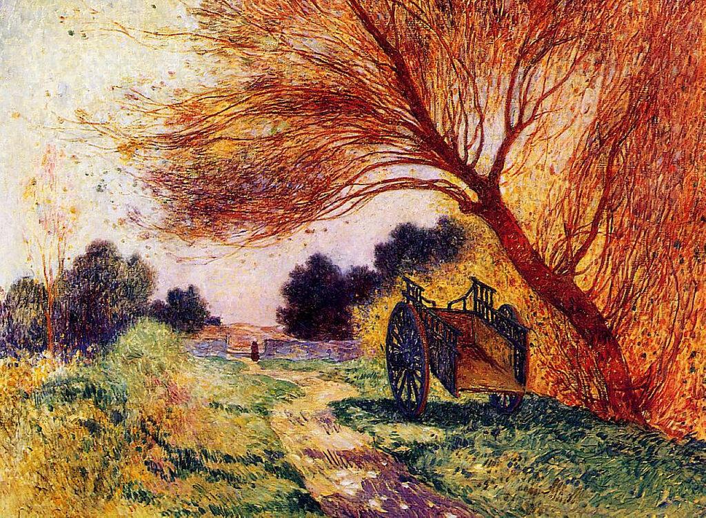 Ferdinand du Puigaudeau - Cart by the Path, 1907-15.jpeg