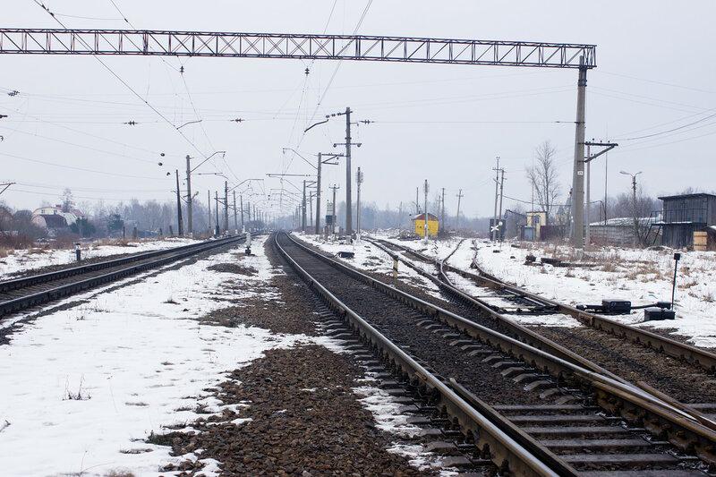 начало первой ветки Императорской железхной дороги у станции Александровская