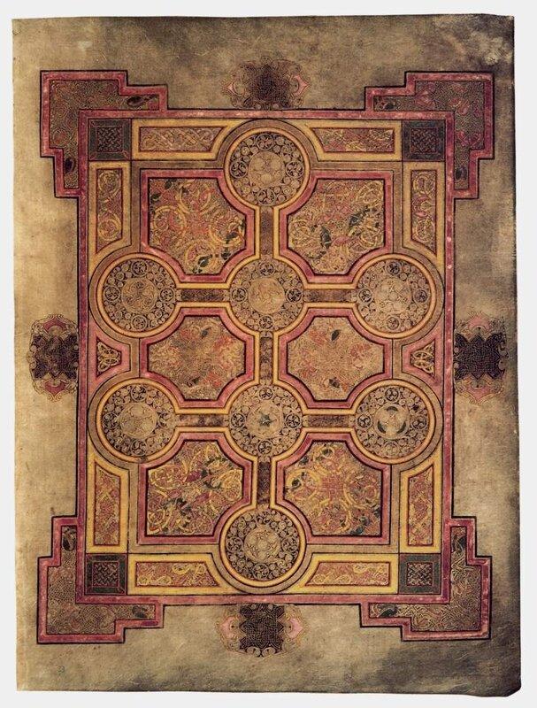 Ковровая страница с 8-конечным крестом