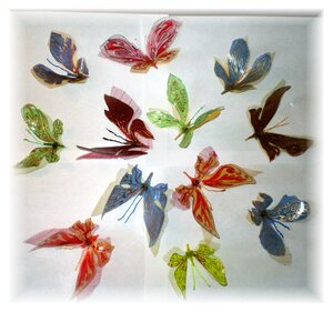 Бабочки из пластиковых бутылок мк