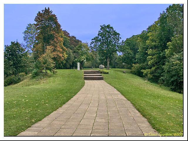Парк около замка Турайда в Сигулде