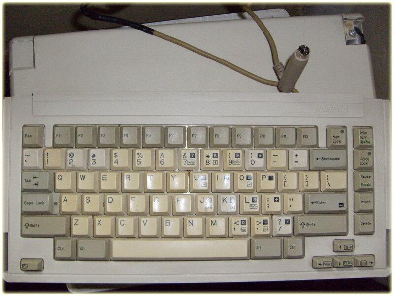 ретро ноутбук Compaq SLT/286