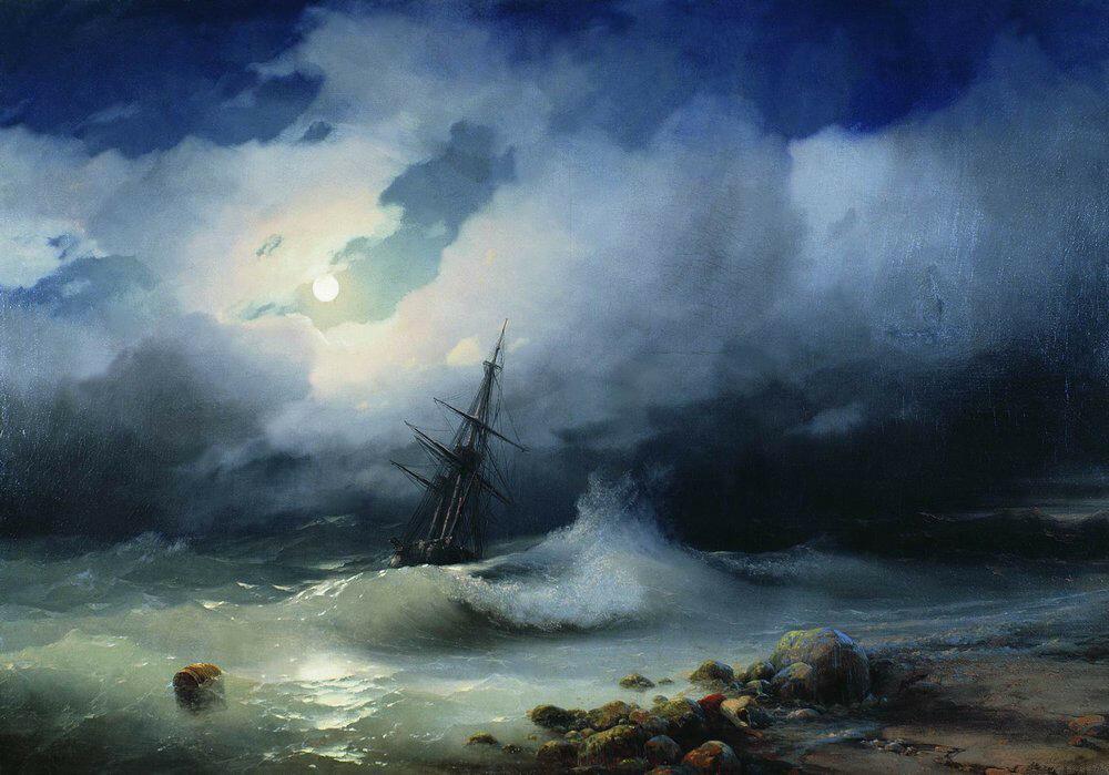Бурное море ночью. 1853.jpg