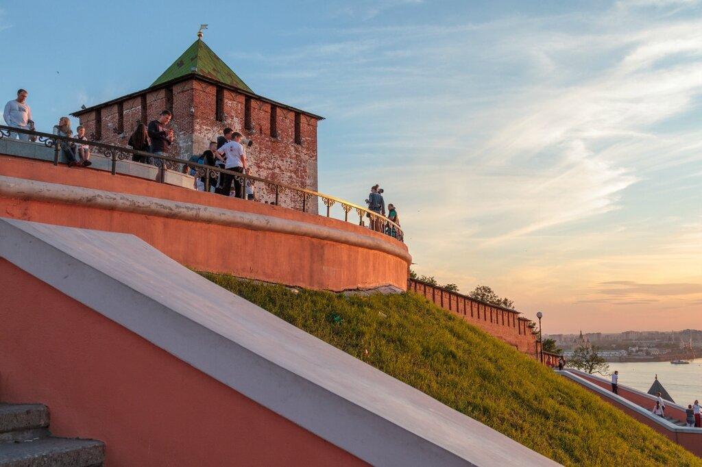 Кремль со стороны Чкаловской лестницы, Нижний Новгород