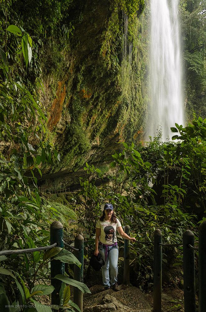 Фото 9. Водопад Cascada de Misol-Ha. Отчет о самостоятельной поездке за рулем автомобиля по стране