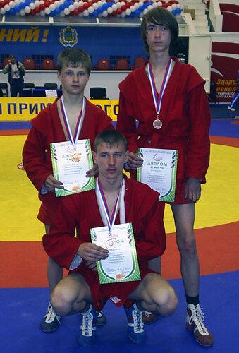 призёры Спартакиады учащихся ДВФО по самбо