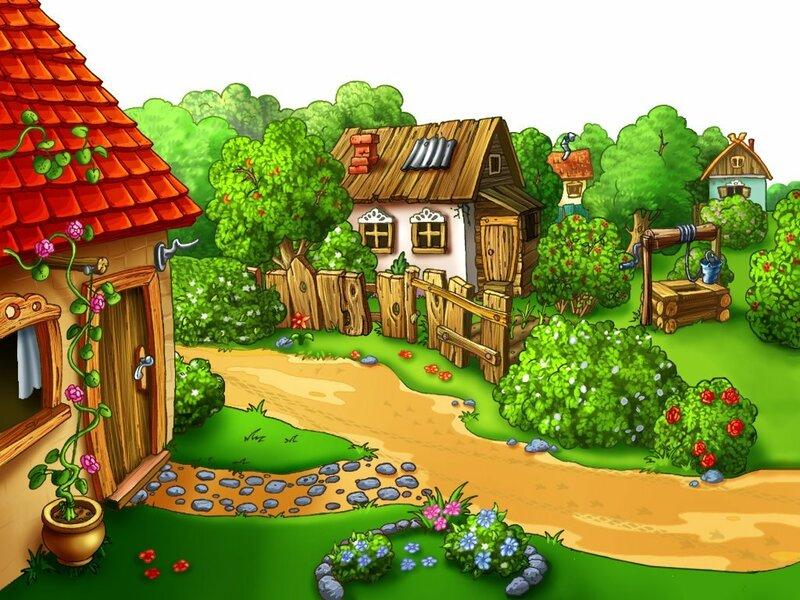 Картинки на рабочий стол деревенский домик летом