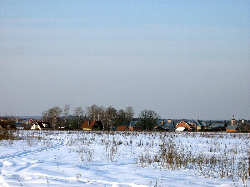 Поселок зимой