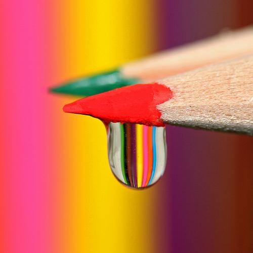 Капля на красном карандаше (Набор из десяти цветов)