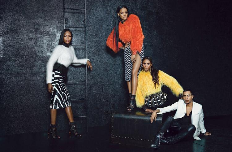 Рианна, Наоми и Иман в журнале W Magazine (3 фото)