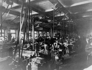 Внутренний вид механического цеха механического и меднолитейного завода  В.Т.Однер.