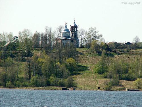 Волга у Стрелки. Здесь выходила на берег Катюша - Екатерина Великая - 17 (28) мая 1767 г.
