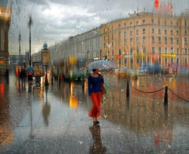 дождь город петербург