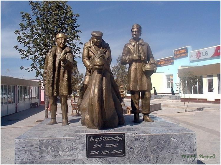 Памятник героям из кинофильма «Джентльмены удачи»