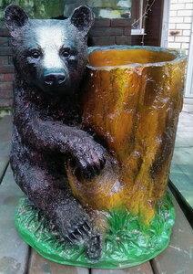Форма кашпо Медведь с кадкой (полистоун)