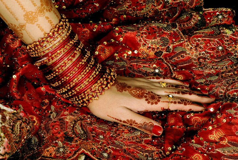 Роспись хной в Индии называется мехнди