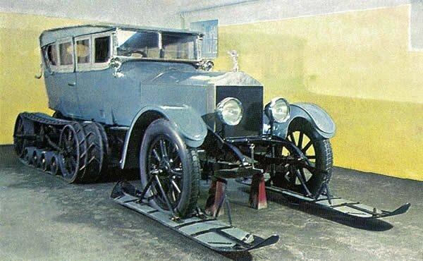 Единственные в мире автосани на шасси Rolls-Royce можно и сейчас увидеть в Доме-музее В.И. Ленина в Горках