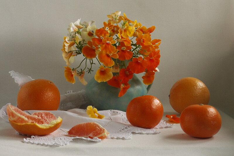 оранжевое лето или апельсиновый этюд...