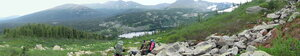 Вид на озеро и мёртвый лес