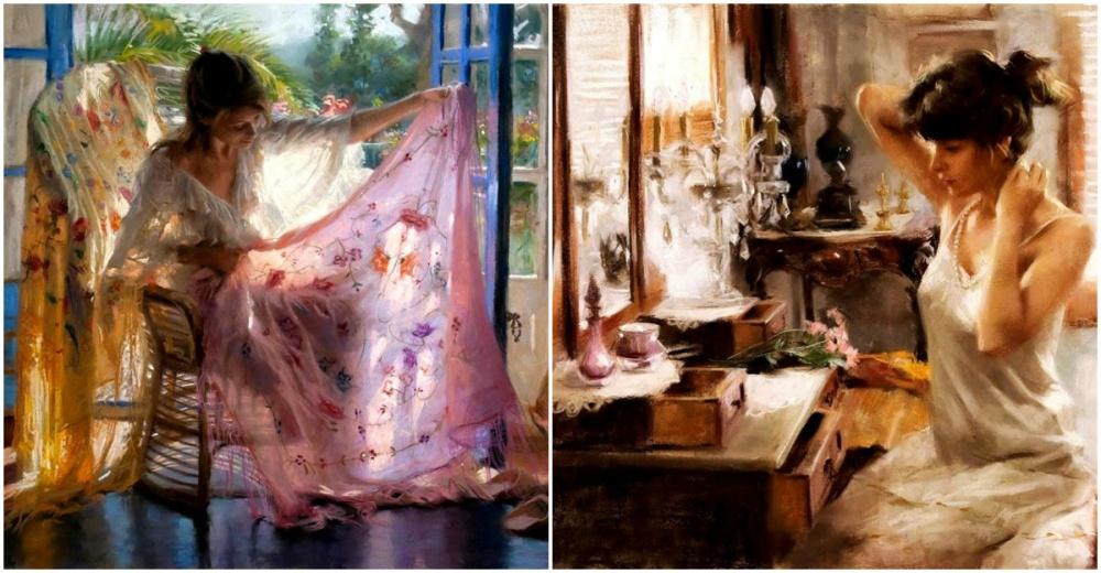 Современный испанский художник Висенте Ромеро (Vicente Romero) потрясающе передает атмосферу легкост