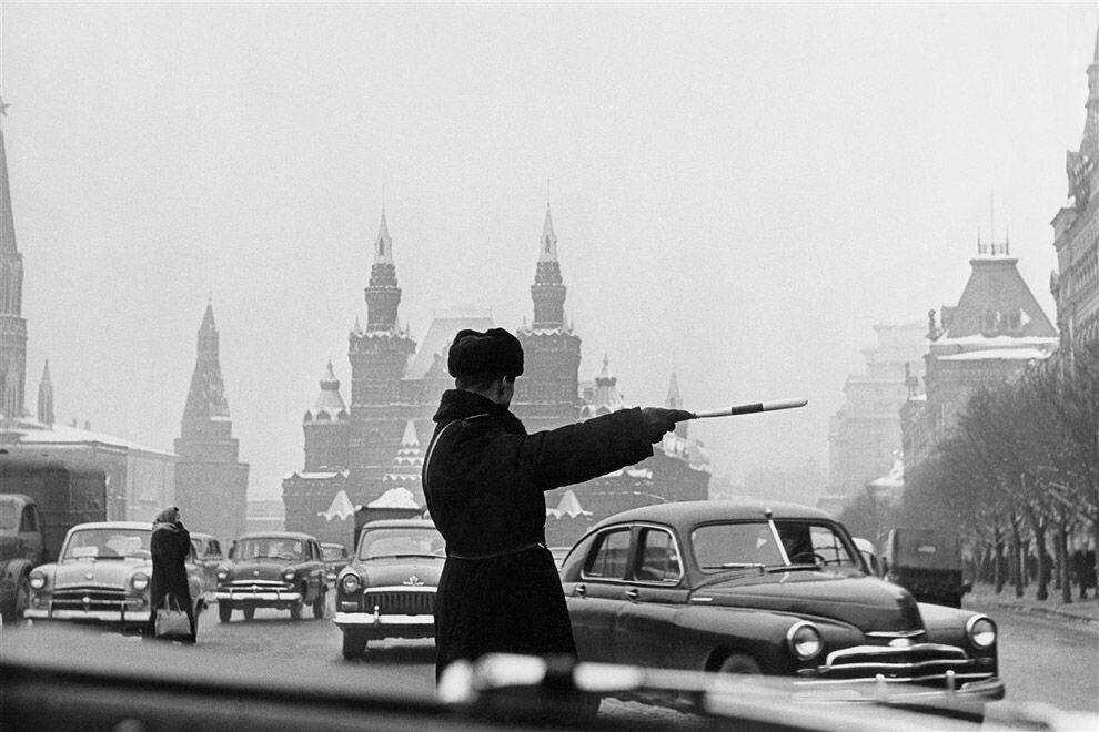 1962. Регулировщик, Москва, Красная площадь