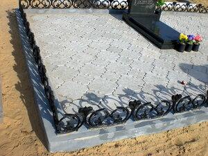 Клевер орнаментный, плитка тротуарная для пешеходных дорожек