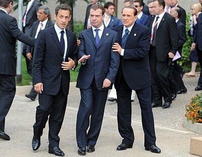 Пьяный Медведев 2009 Италия