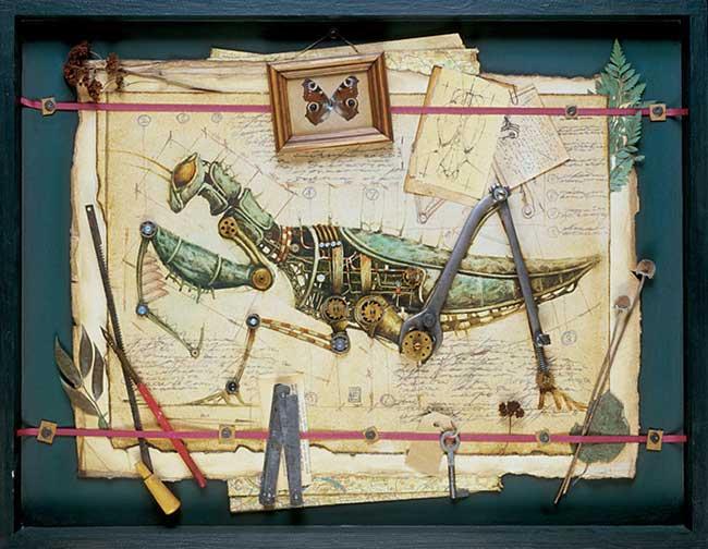 Картины механических животных и насекомых в стиле стимпанк  (6 фото)